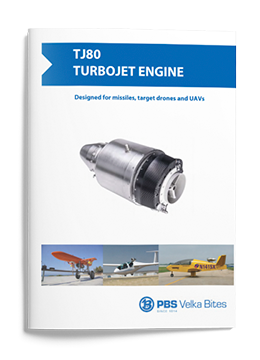 Turbojet engine PBS TJ80